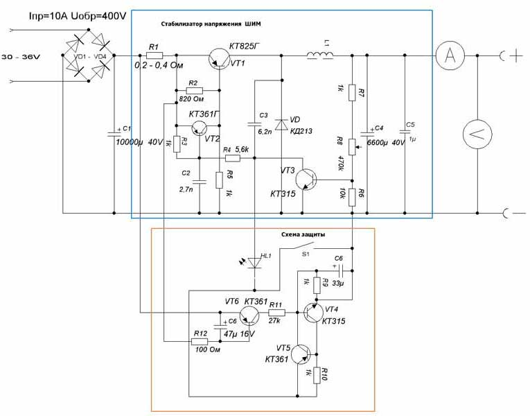 схема блока питания на микросхеме ir2151 - Практическая схемотехника.